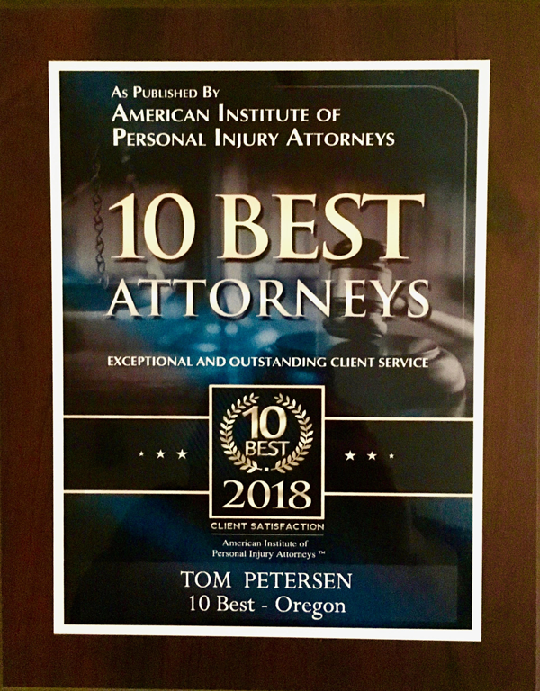 10 Best Attorneys Award For Exceptional and Outstanding Service Client Satisfaction From the American Institute of Legal Counsel